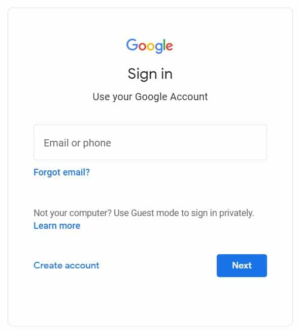 Sign in to the account linked to Drive