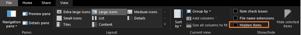 Tick mark in the Hidden checkbox, click on it to uncheck