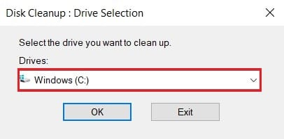 choose the drive where windows is installed