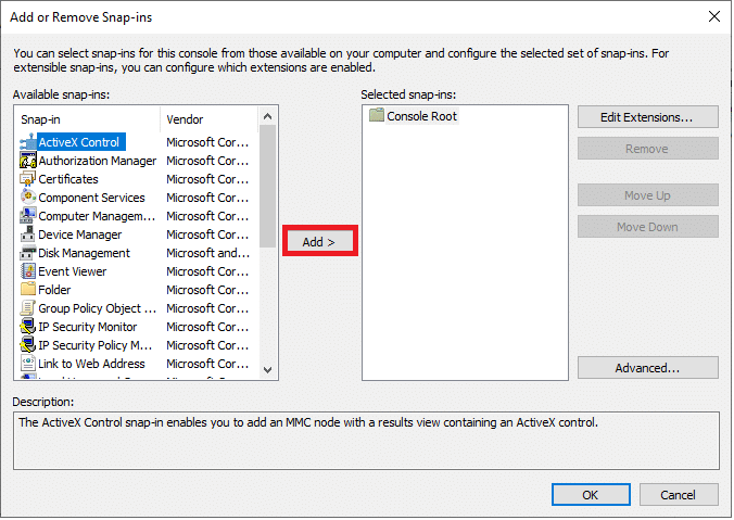 Click on Add.   Enable Disable Num Lock