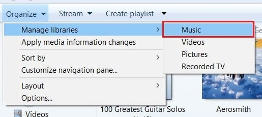 click on organize , manage libraries, music | How to Add Album Art to MP3 in Windows 10