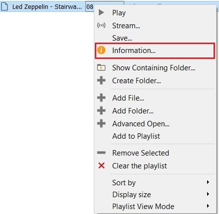 right click on the file and then click on information