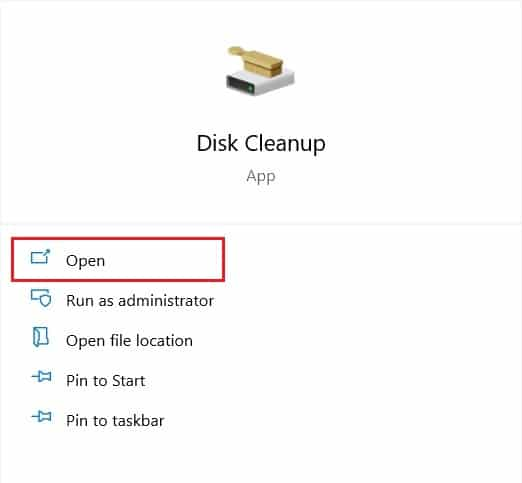 use the windows search bar to open disk cleanup | How to Fix Broken Registry Items in Windows 10