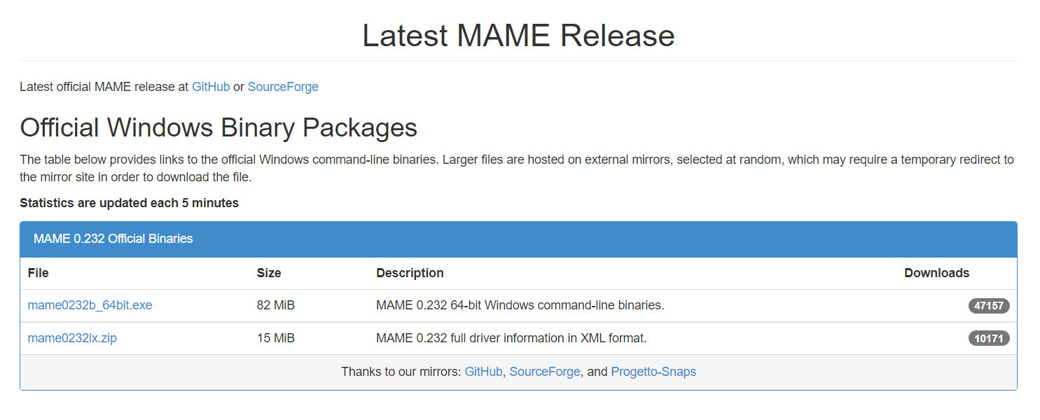 Download the latest MAME Release   How to use MAME to Play Arcade Games on Windows PC