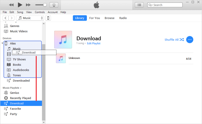 Manually Select Playlists on iTunes