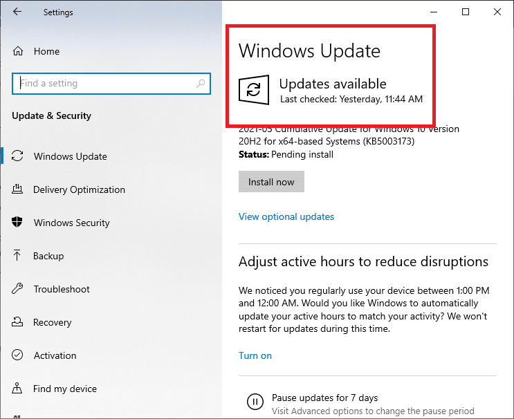 Install Windows update. Fix Command Prompt Appears then Disappears on Windows 10