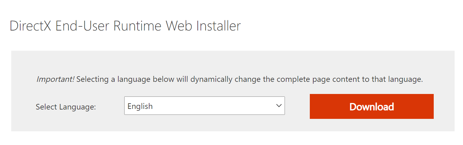 choose a language and then click on Download.