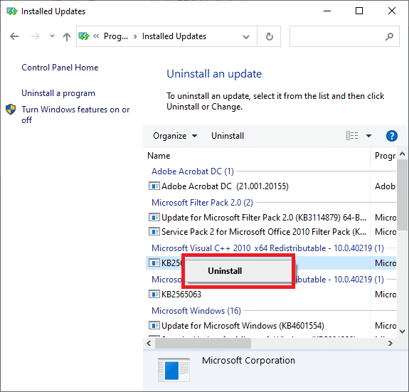 Choose it with the right-click menu and click Uninstall   Fix This copy of Windows is not genuine error