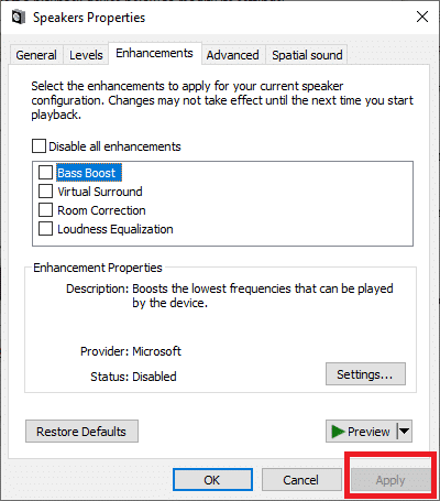 Click on Apply to save the changes   Fixed: Automatic Volume Adjustment/Volume goes Up and Down