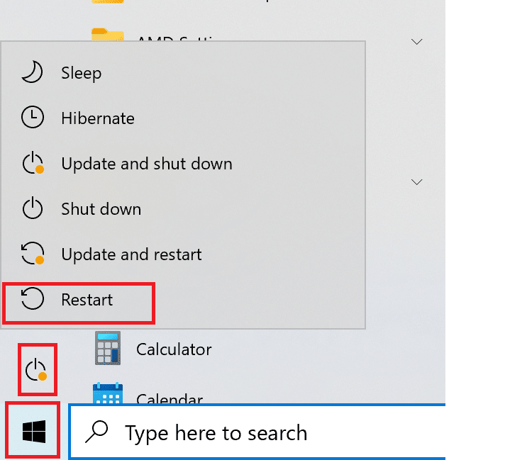 click on Restart | Fix Graphics Card Not Detected on Windows 10
