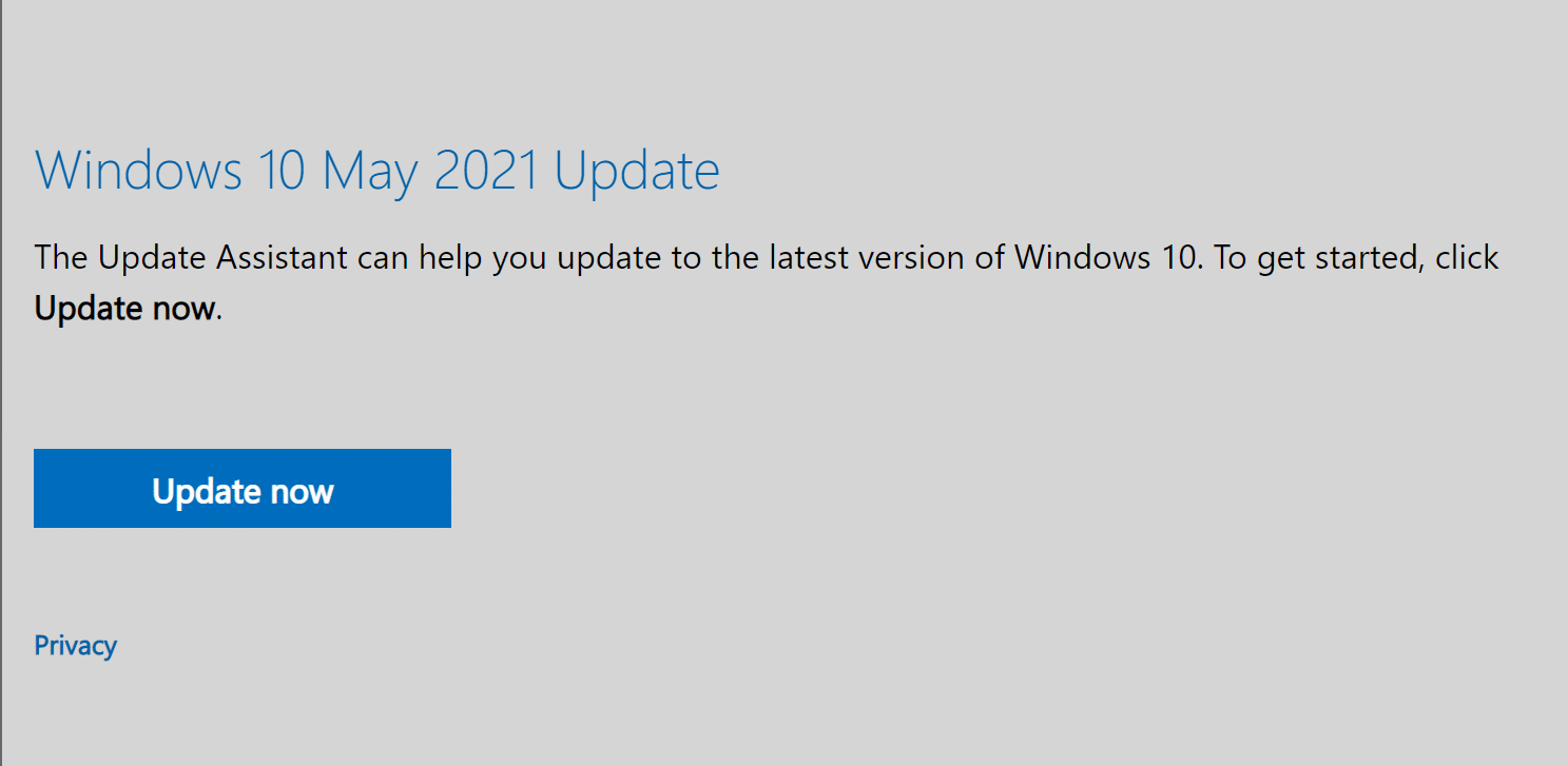 Click on Update Now to download the Update assistant | Fix Windows 10 Won't Update