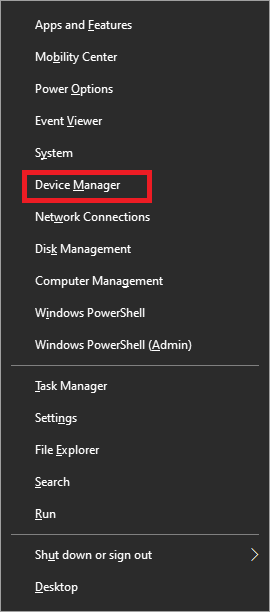 Go to Device Manager | Solved: Cursor Blinking in Windows 10