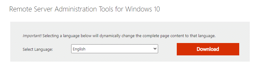 Go to the linked website. This will open the web page containing the tool that is to be downloaded.