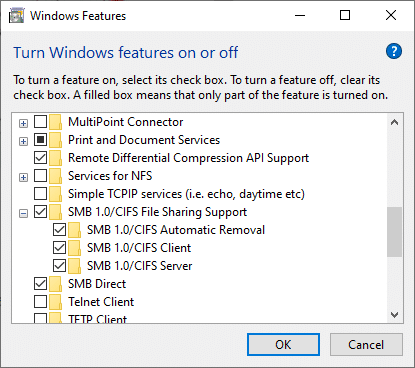 Here, check all the boxes below to ensure all the computers use the same protocols.