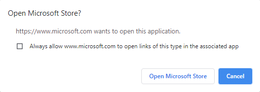Here, click on Open Microsoft Store and proceed on.