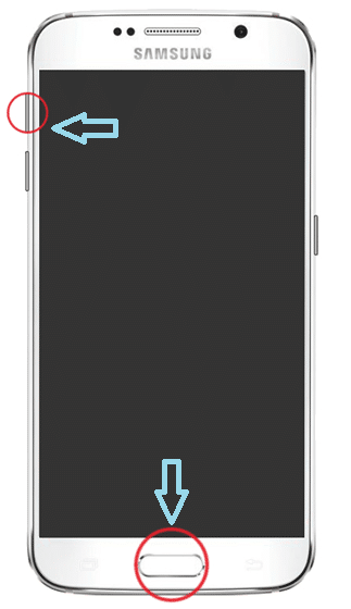 Hold Volume up button and Home button together for some time | How to Factory Reset Samsung S6