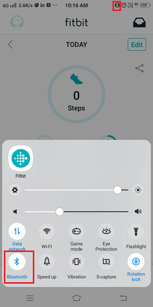 If it is not enabled, tap on the icon and enable it
