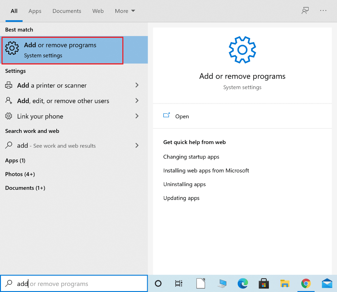 launch add or remove programs from windows search   Fix: Avast Behavior Shield Keeps Turning Off