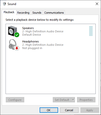 Now, switch to the Playback tab   How to Boost the Bass of Headphones and Speakers in Windows 10