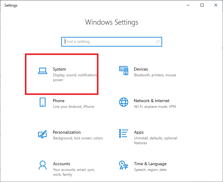 Press the Windows +I keys together to open Windows Settings and choose System   Fixed: Logitech Download Assistant Start-up Issue