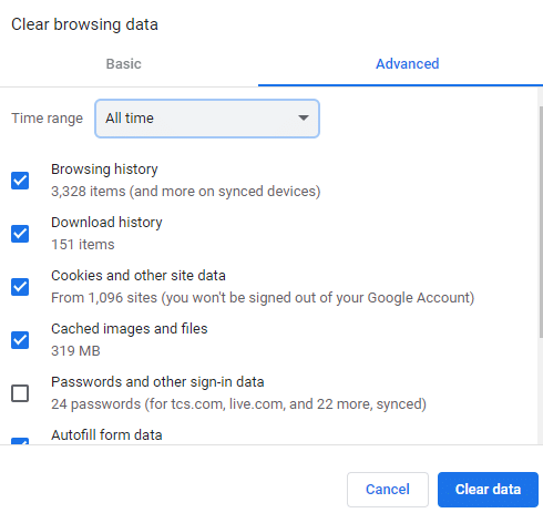 select the Time range for the action to be completed.