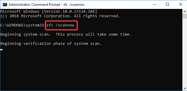 typing sfc /scannow | Fix Windows 10 Won't Update