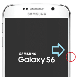 wait for Samsung Galaxy S6 to appear on the screen. Once it appears, release all the buttons.