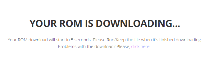 Wait for the download process to be completed.