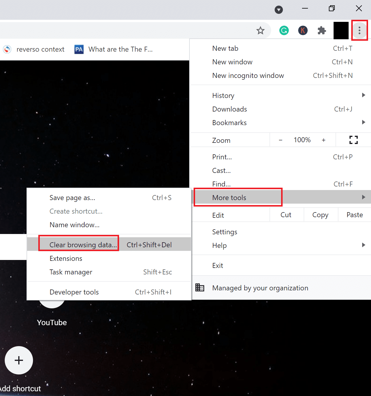 click on Clear Browsing Data | How to Fix Spotify Web Player won't Play
