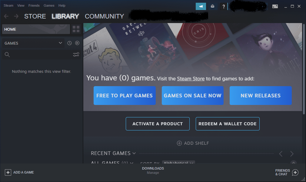 Switch to the LIBRARY tab as illustrated   How to Stream Origin Games over Steam