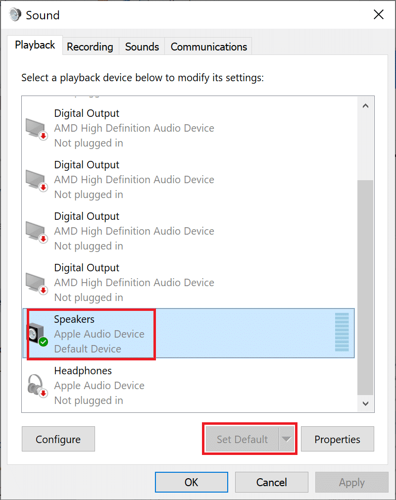 select Set Default | How to Fix OBS not Capturing Game Audio