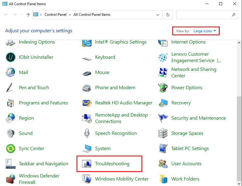 Choose the Troubleshooting option from the given list