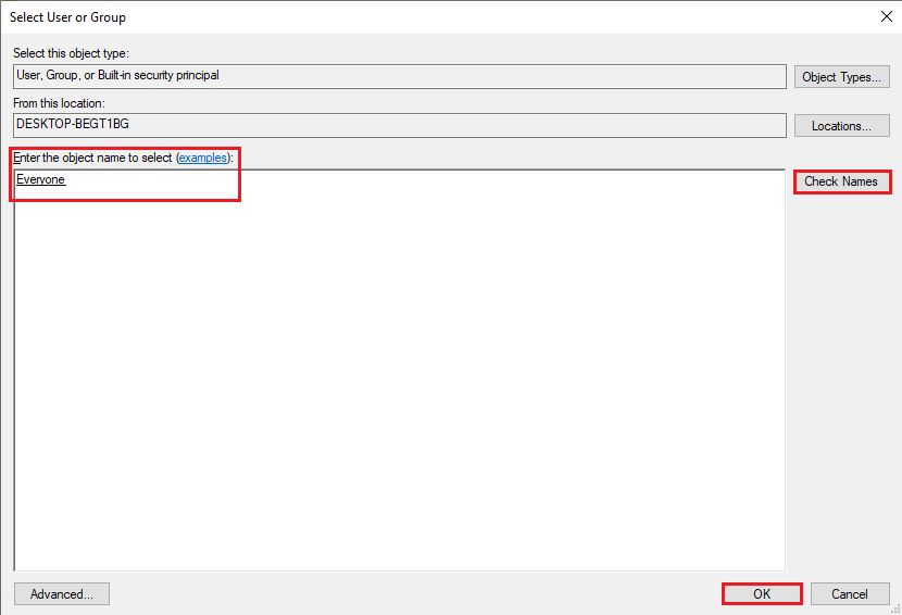 Click on OK | Fix Failed to Enumerate Objects in the Container error