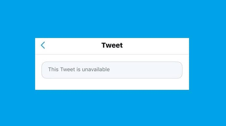 Fix This Tweet is Unavailable on Twitter