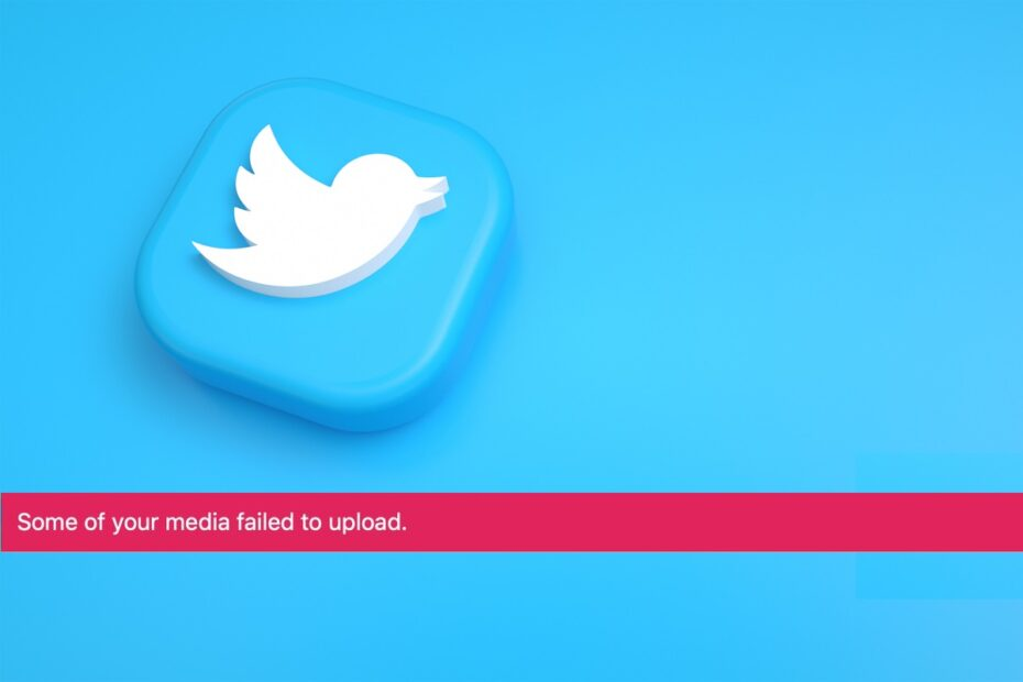 Fix Twitter Error Some of your media failed to upload