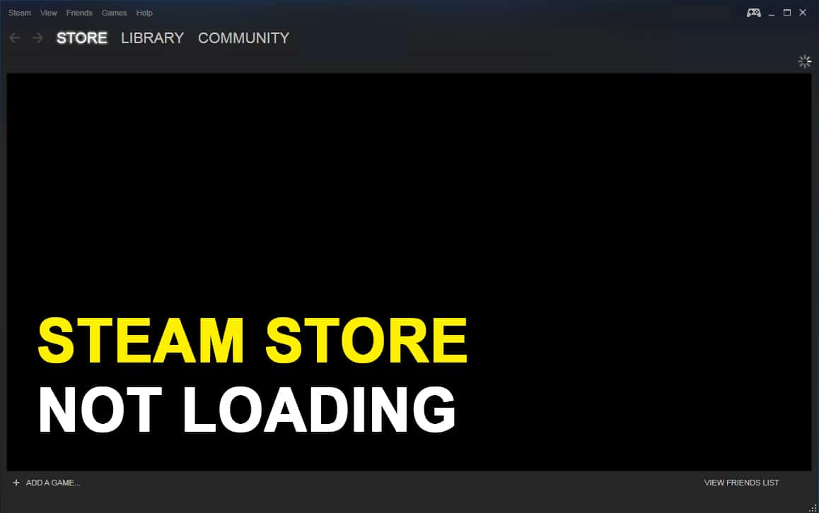 How to Fix Steam Store Not Loading