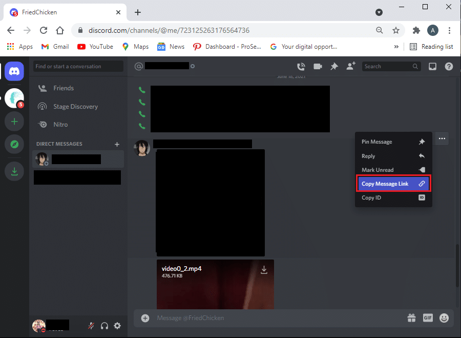 Select the Copy message link and paste the message link on the same notepad. how to report a user on Discord