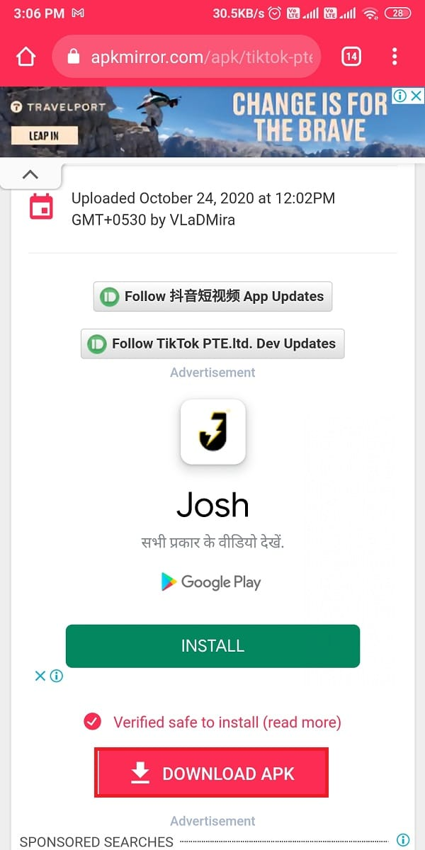 Tap on Download APK. How to get Chinese TikTok on iOS and Android