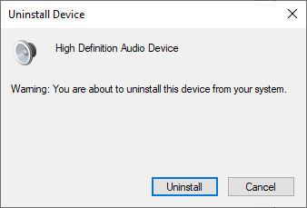 A warning will prompt on the screen, as depicted below. Click on Uninstall and proceed on.