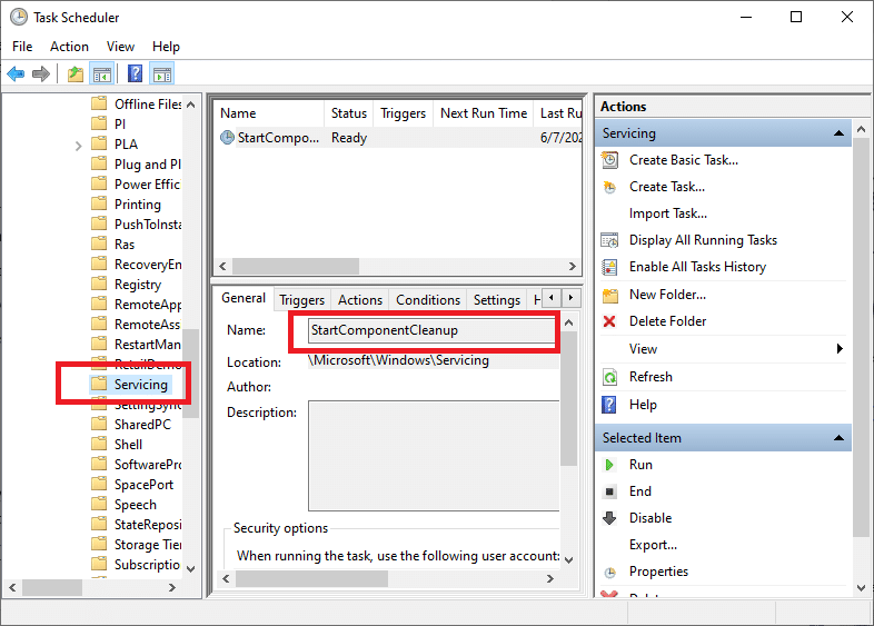 After that, right-click on StartComponentCleanup and then choose Run | Fixed: Windows Update Error 0x800704c7