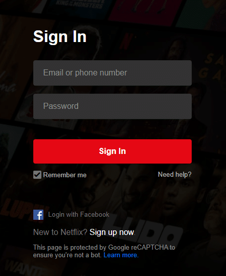 Click the link attached here and sign in to your Netflix account by using the login credentials.