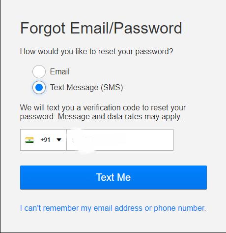 Finally, select Text Me