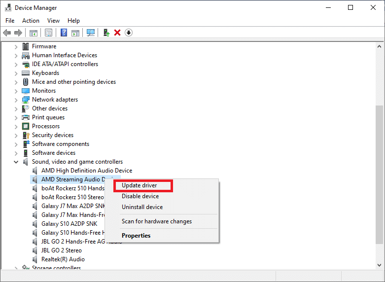 select Update driver.