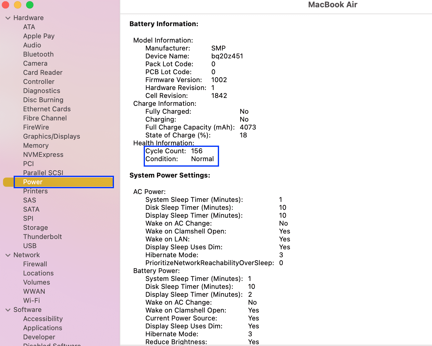 Check the health of the Mac battery, viz Cycle Count and Condition. Fix MacBook not charging when plugged in