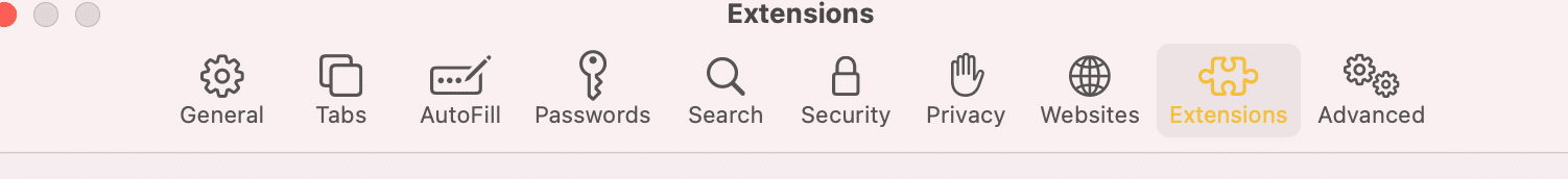 Click Preferences then, Extensions. Safari not loading pages on Mac