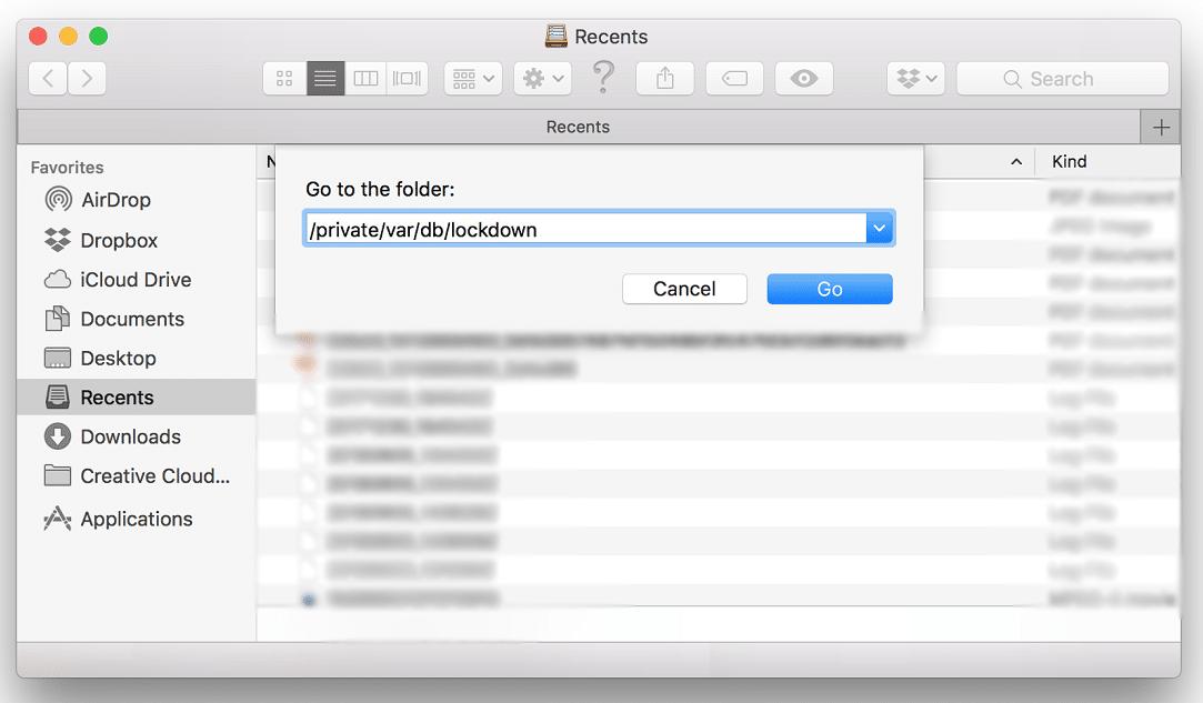 Delete Apple Lockdown Folder
