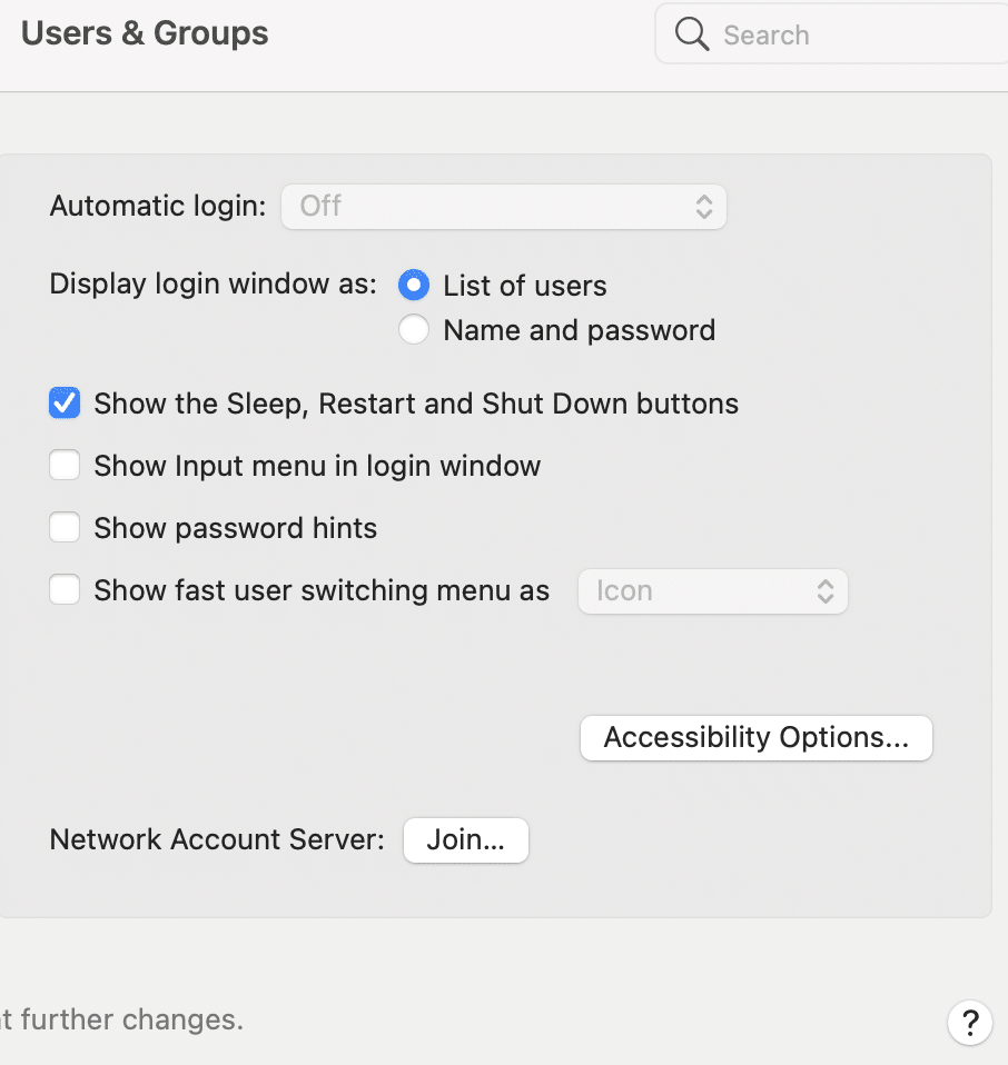 Disable the option that says, Show fast user switching menu as   Fix macOS Big Sur compatibility
