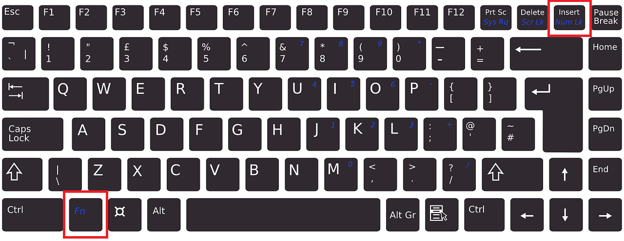 Enable or Disable Num Lock Using Function Keys