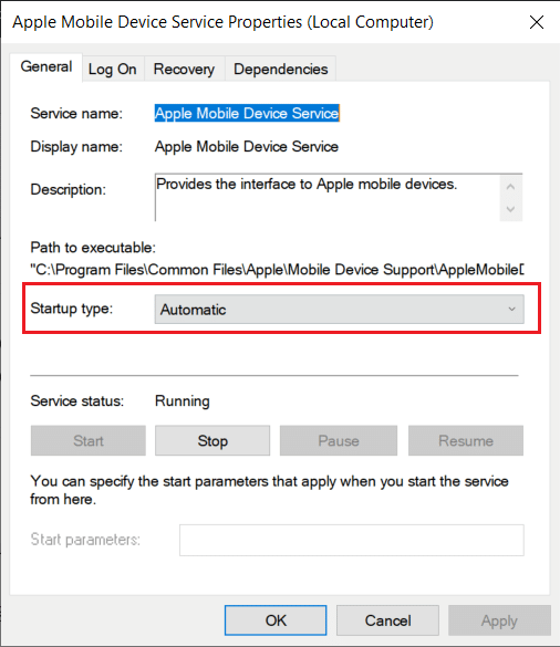 Ensure Apple Services are Running. computer not recognizing iPhone