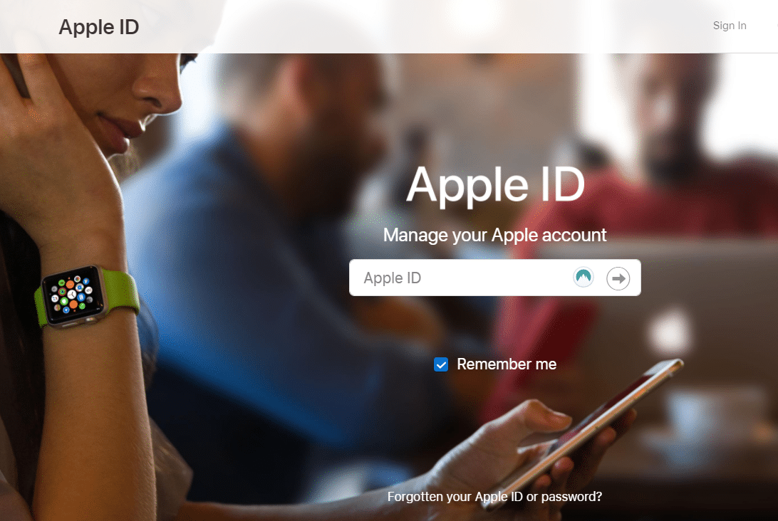 Enter your Apple ID